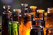 Beer Bottles lined up