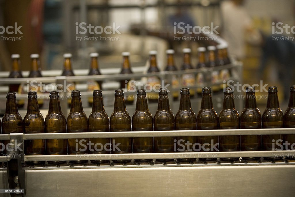 Beer Bottling Line stock photo