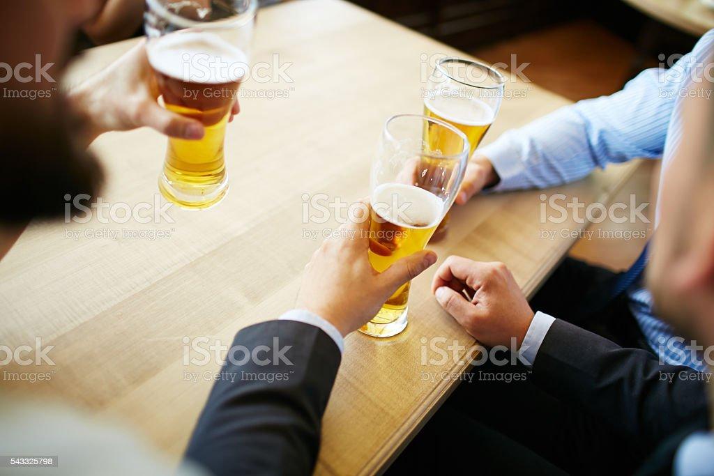 Di birra pausa - foto stock