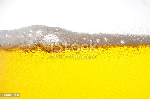 istock Beer bubble with dewy against white background 183382726
