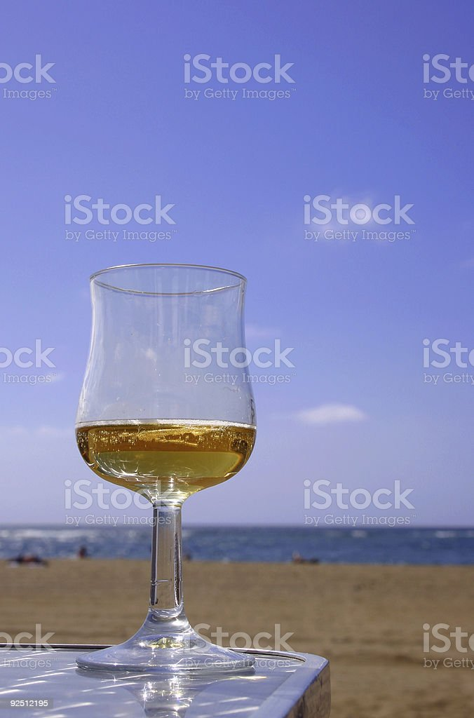 Beer By The Beach royalty-free stock photo