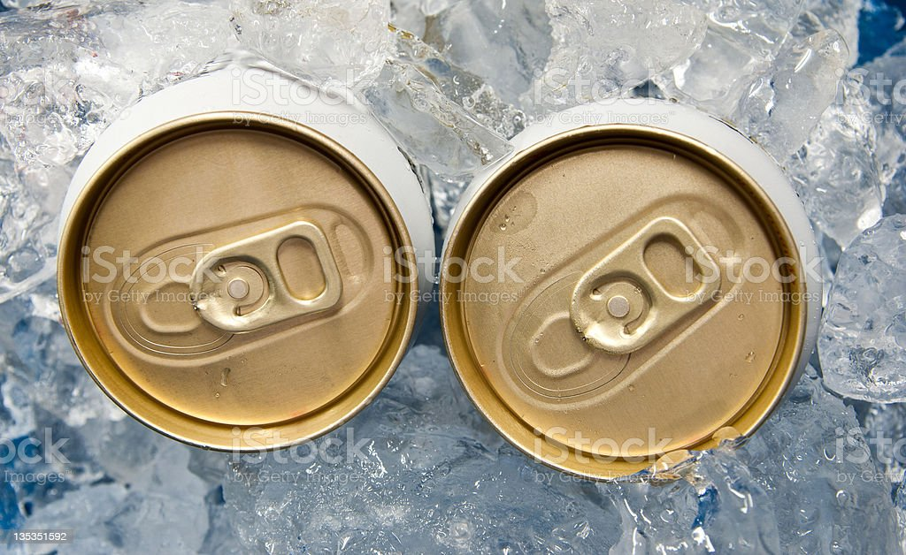Beer can in ice royalty-free stock photo