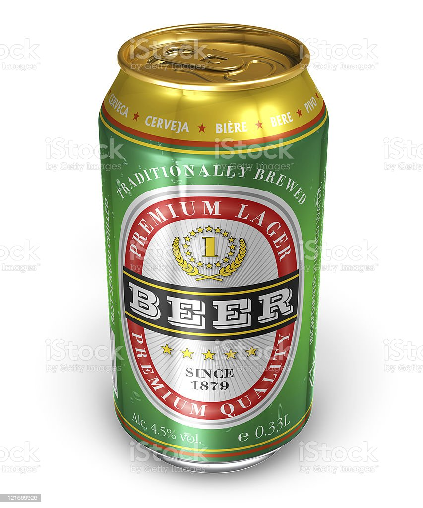 Beer can stock photo