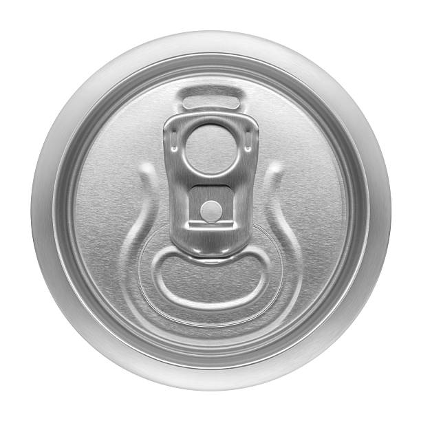 beer can, view from the top stock photo