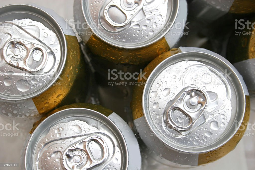Beer cans stock photo