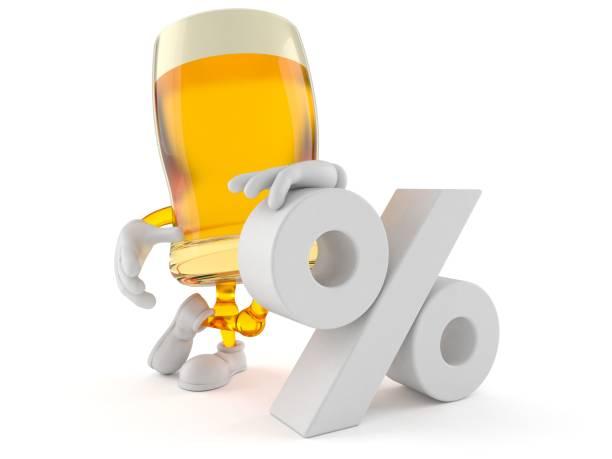 Biercharakter mit Prozent Symbol – Foto