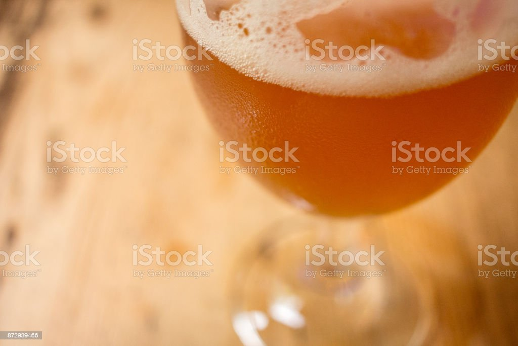 Beer close up stock photo