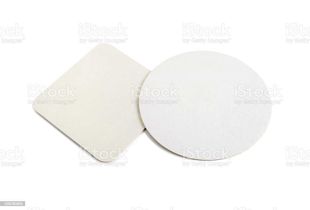 Beer coasters stock photo