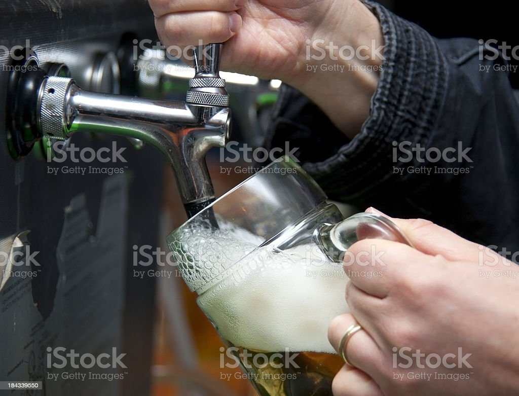 beer drawing - Bierzapfen royalty-free stock photo