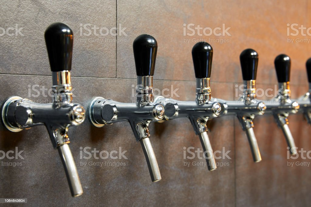 Beer equipment for beer bottling stock photo