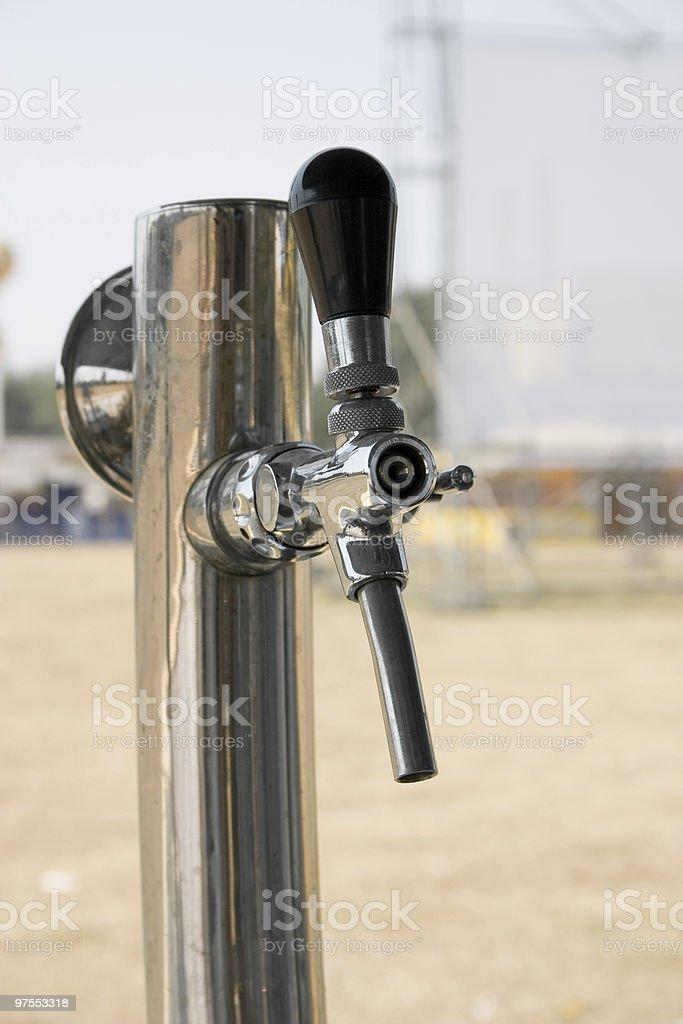 Robinet de la bière photo libre de droits