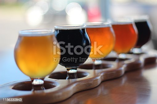 Unbranded flight of beer