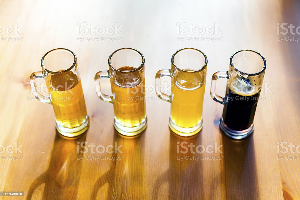 Beer Flight royalty-free stock photo
