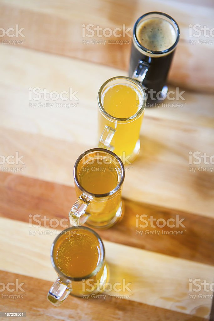 Beer Flight stock photo