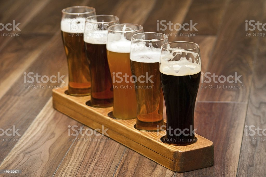 Beer Flight. stock photo