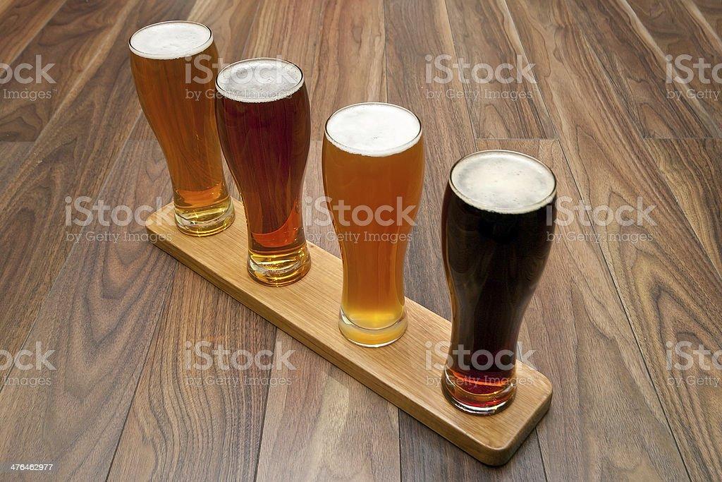 Beer Flight. stock photo