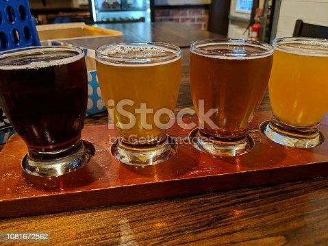 Stout, IPA, Lager and wheat beer