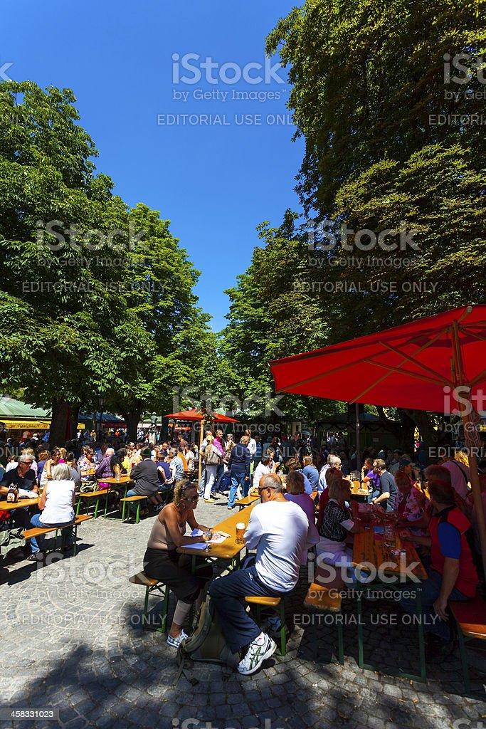 Beer Garden, Munich royalty-free stock photo