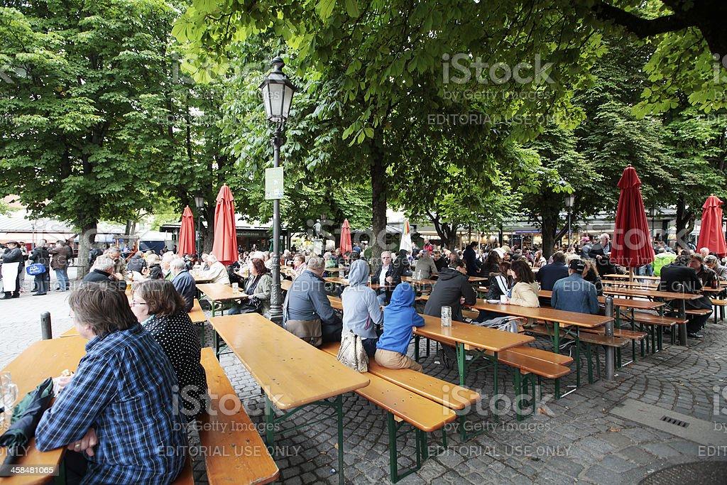 Beer Garden stock photo