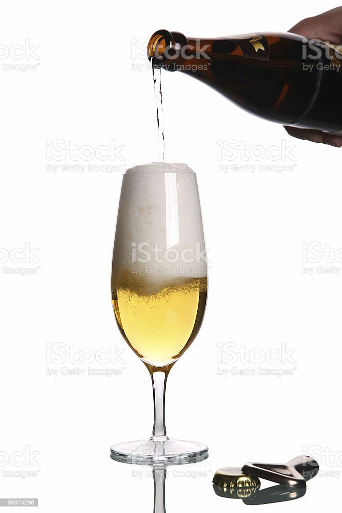 Beer Glass Full and Pour royalty-free stock photo