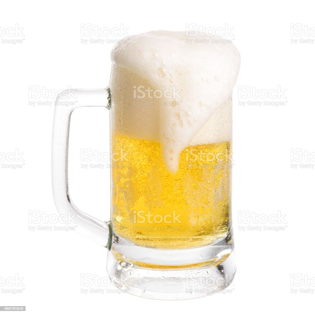 Beer Glass Isolated zbiór zdjęć royalty-free