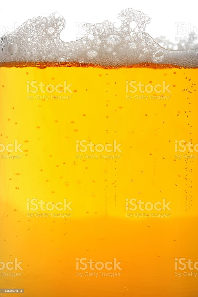 Beer glass macro royalty-free stock photo