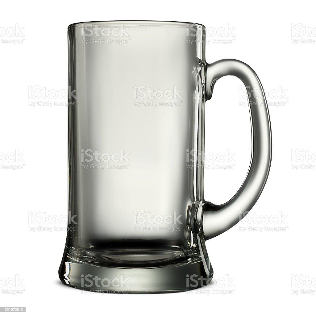 beer glass on white photo libre de droits