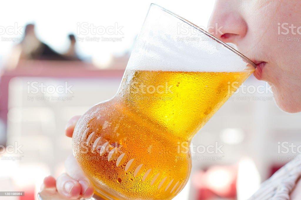Vaso de cerveza - foto de stock