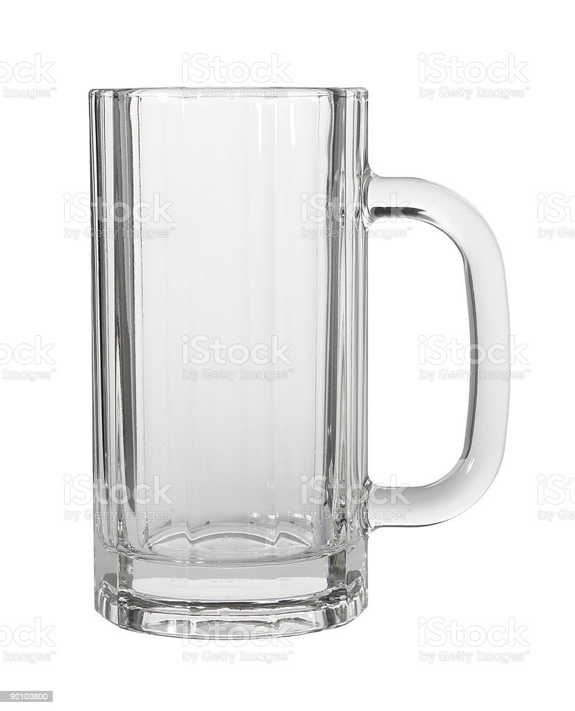 Beer glass stock photo
