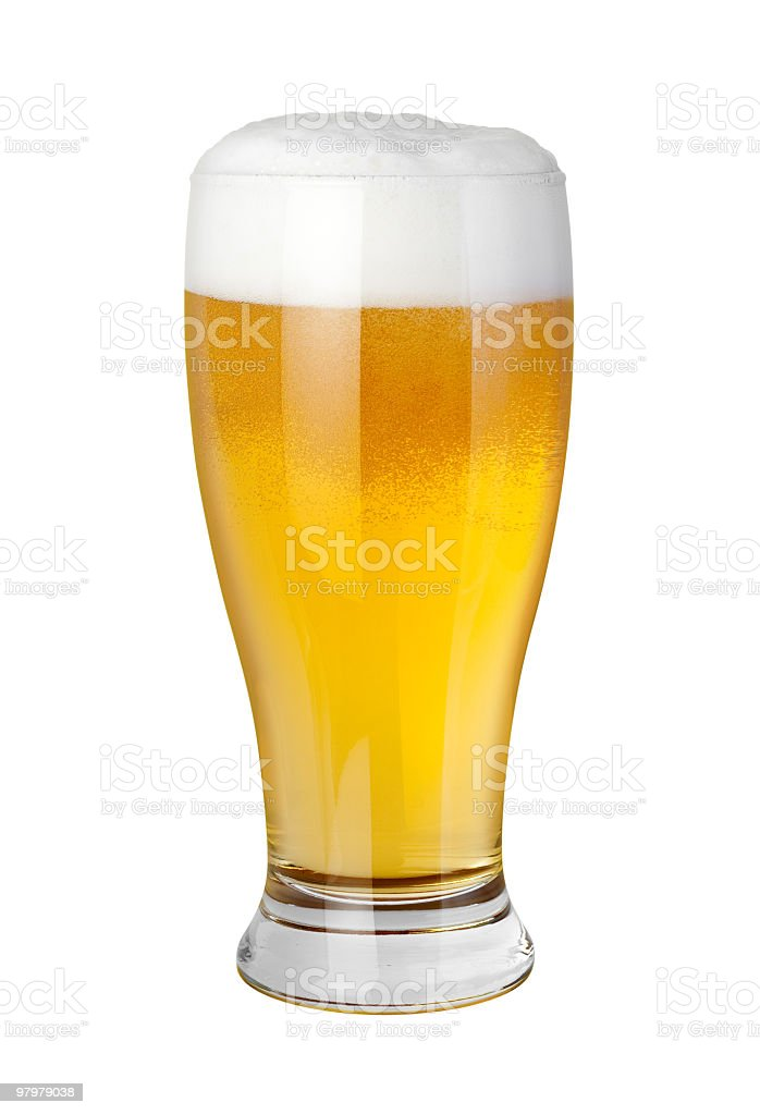 Beer Glass (clipping path) royalty-free stock photo