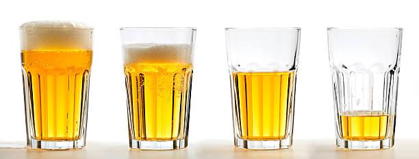 Beer Glass Set stock photo