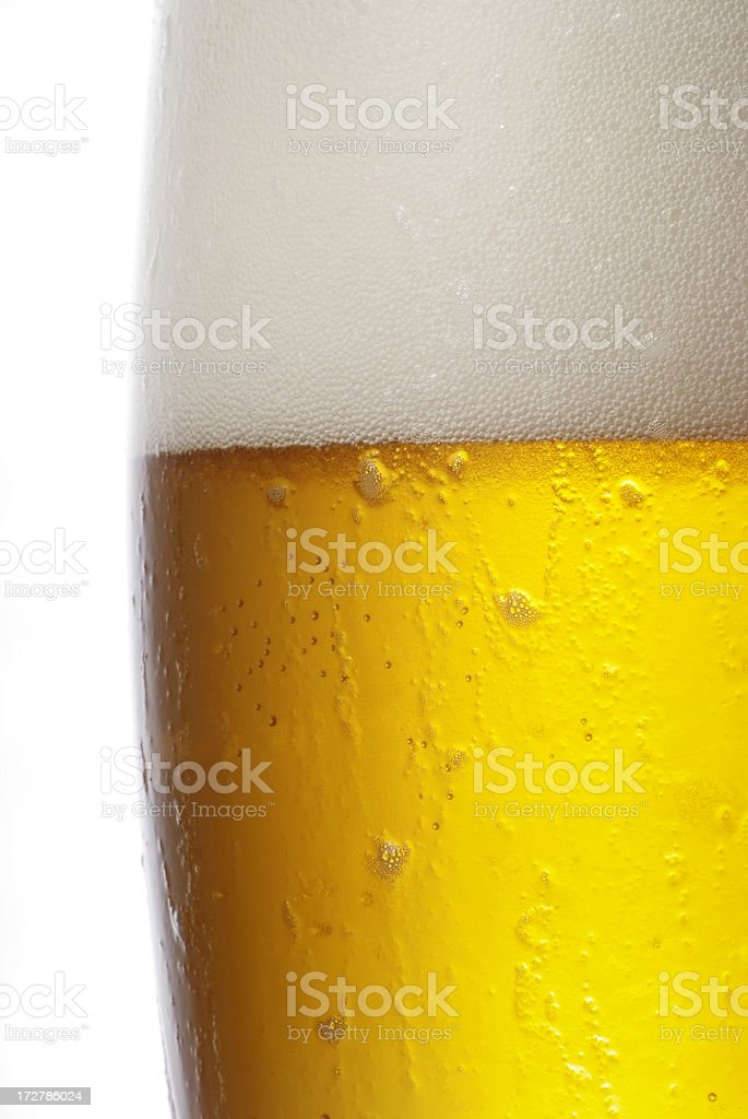 Beer glass top royalty-free stock photo