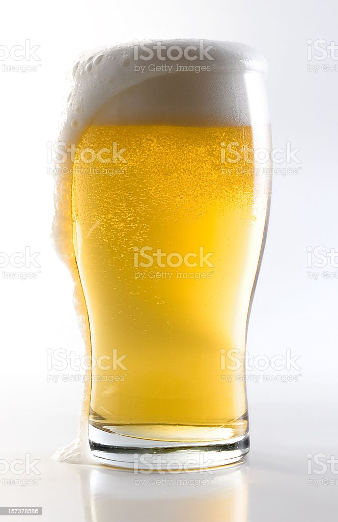 Beer Glass w/Clipping Path stock photo