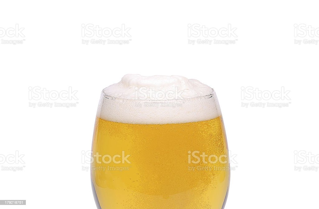 Beer glass with azoom royalty-free stock photo