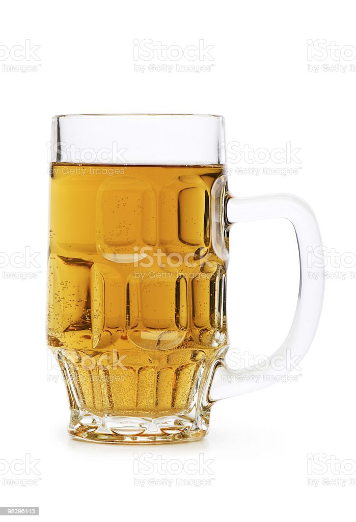 Beer glasses isolated on the white background royalty-free stock photo