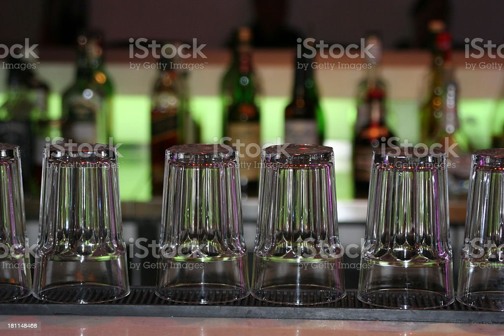 Beer Glasses on a bar royalty-free stock photo