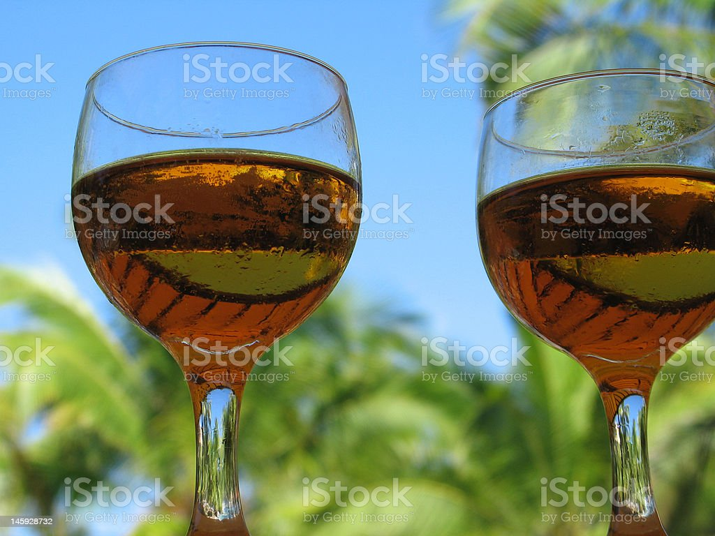 beer glasses royalty-free stock photo