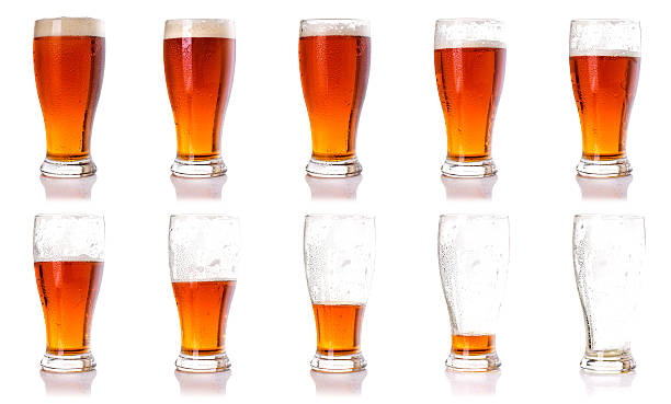 Beer glasses. stock photo