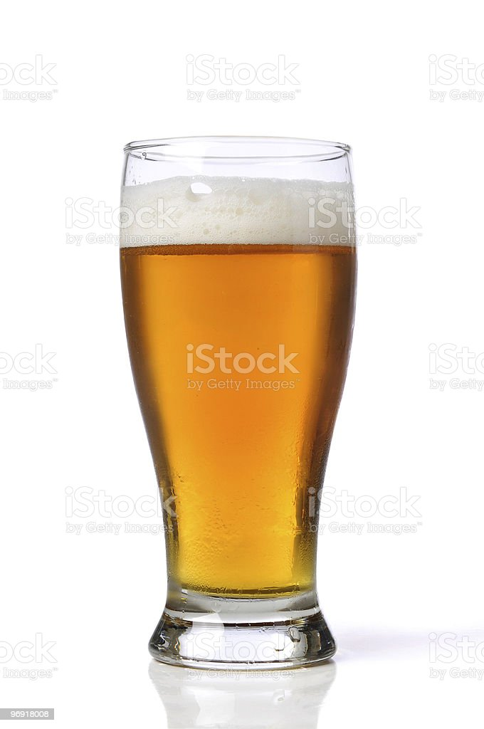 Beer in a glass royalty-free stock photo