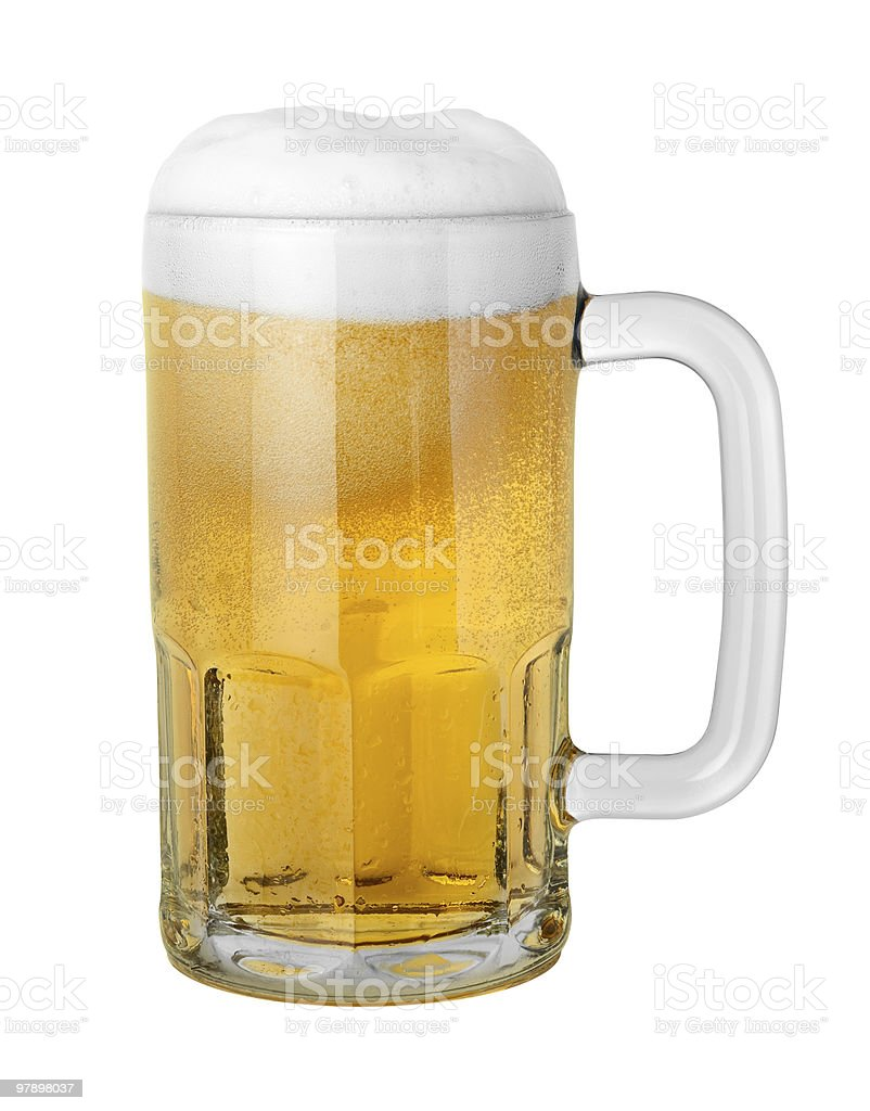 Beer in a Mug (clipping path) royalty-free stock photo