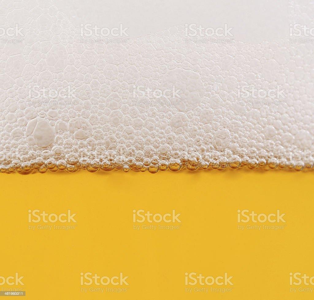 Beer in glass closeup shot stock photo