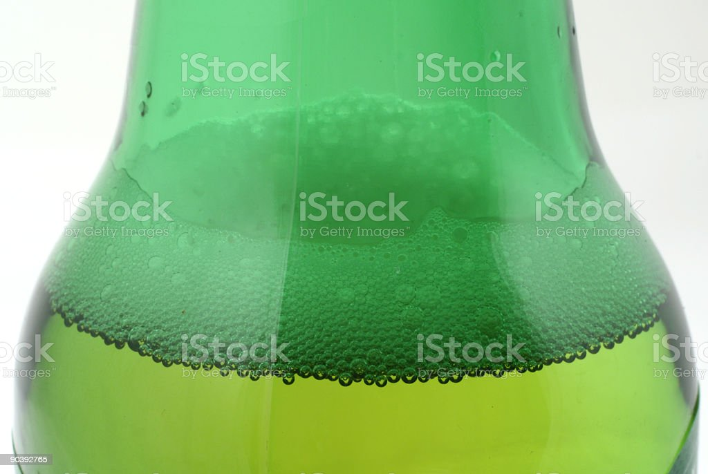 beer in green bottle royalty-free stock photo