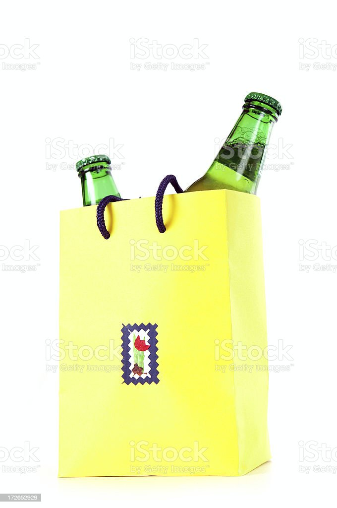 Beer in packet royalty-free stock photo