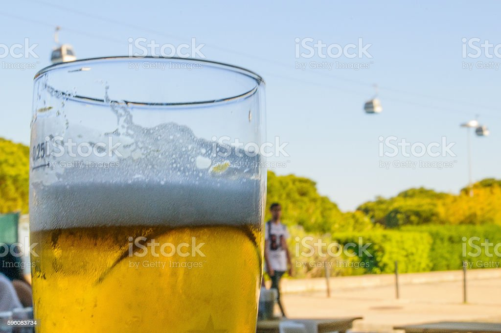 Beer in Park of Nations royalty-free stock photo
