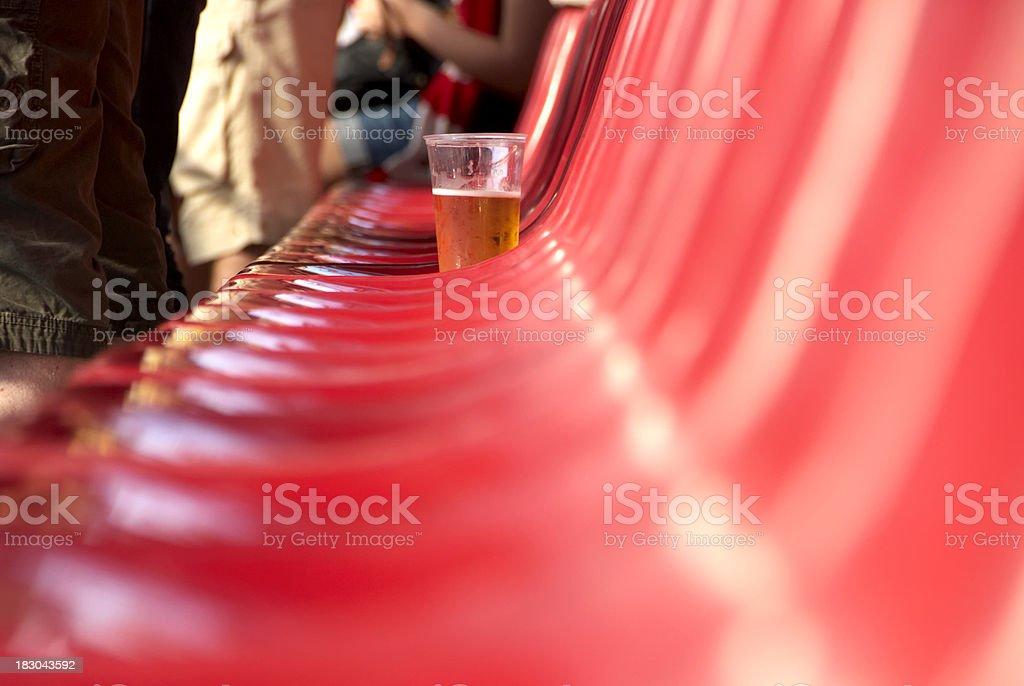 Beer in stadium stock photo