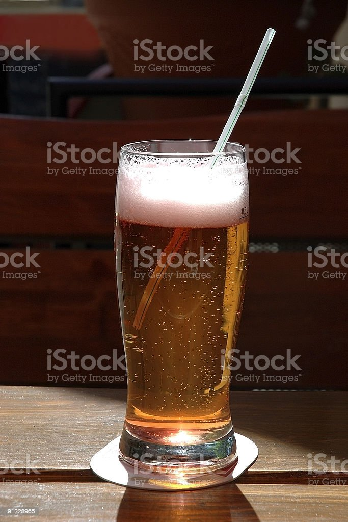 beer in summer afternoon royalty-free stock photo