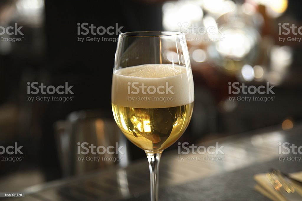 Beer in the Bar stock photo