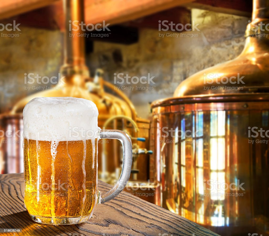 Beer In The Brewery royalty-free stock photo