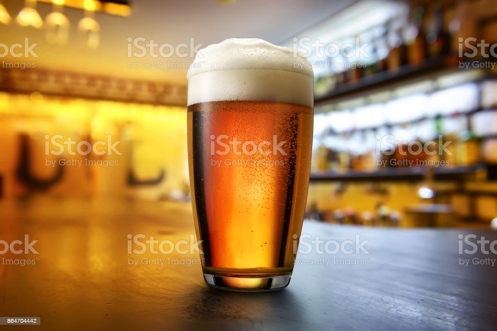 Beer in the pub stock photo