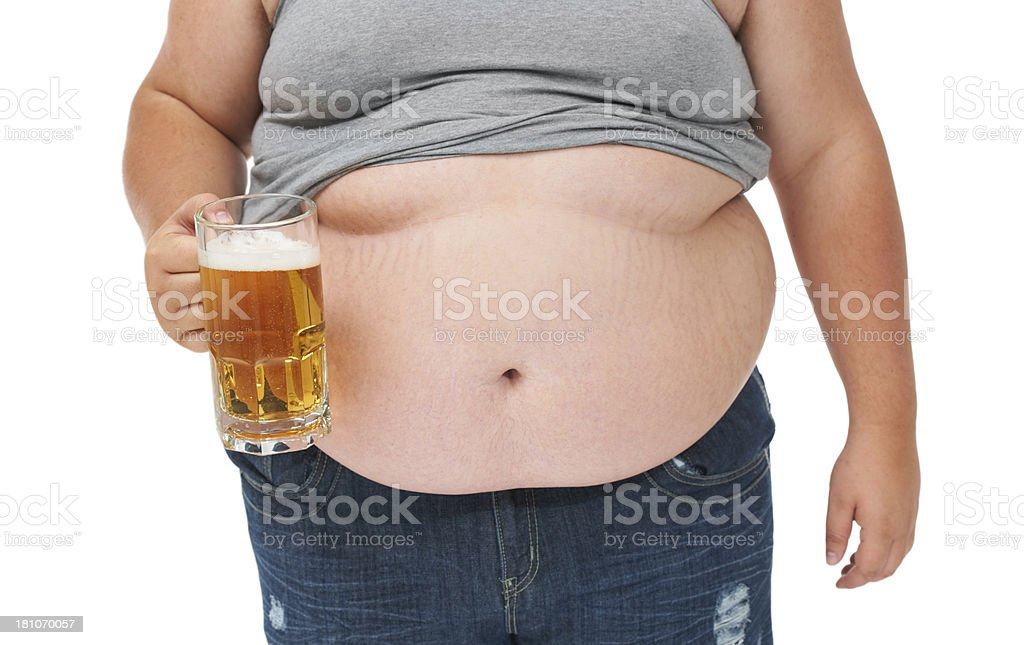 Beer is not great for the waistline! stock photo